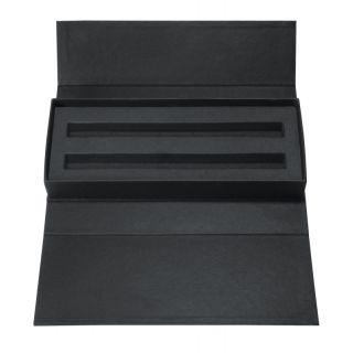Cardboard case for 1 or 2 writing instruments Black-ET156-black